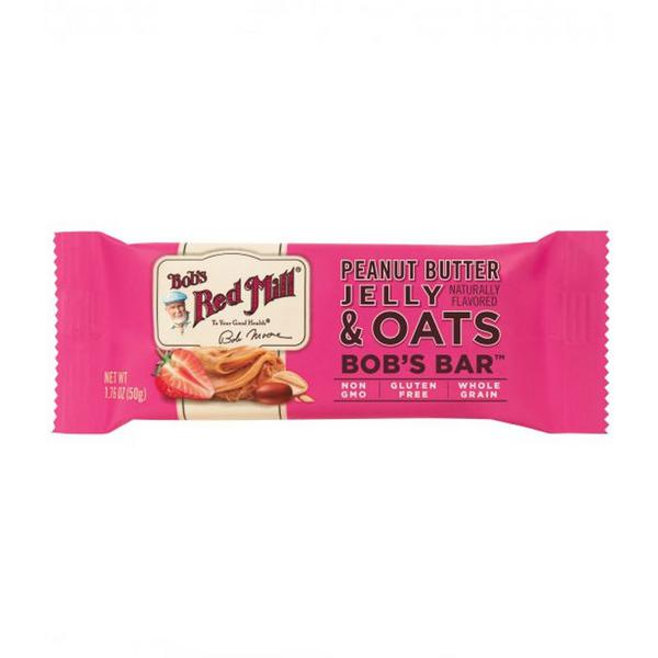 Peanut Butter & Jelly Oat Snackbar dairy free, Gluten Free