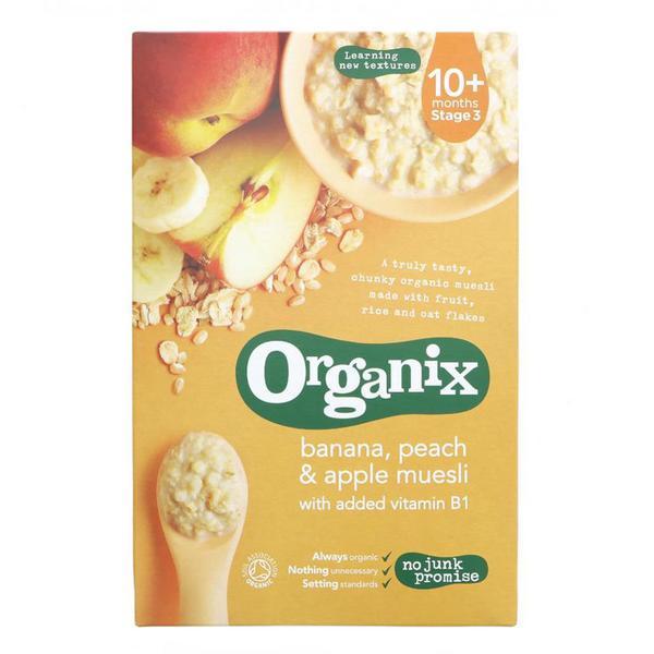 Banana,Peach & Apple Muesli Vegan, ORGANIC