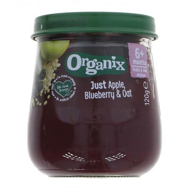 Apple,Blueberry & Oat Puree Just Vegan, ORGANIC