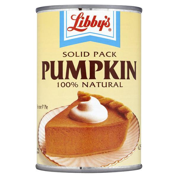 Pumpkin Puree in 425g can from Libby's