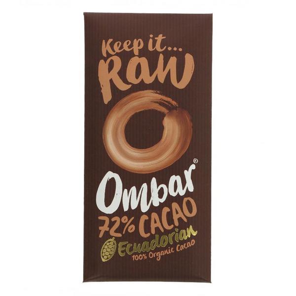 Raw Ecuadorian 72% Chocolate Gluten Free, Vegan, ORGANIC
