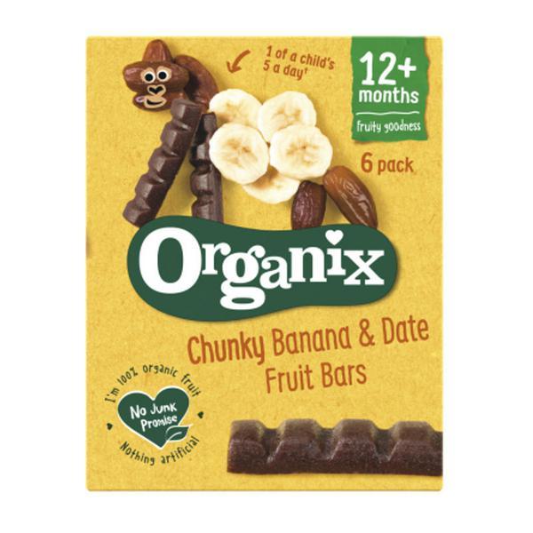 Banana & Date Fruit Snackbar Goodies Vegan, ORGANIC
