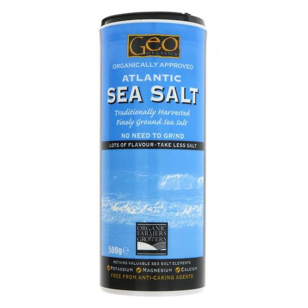 Atlantic Fine Ground Sea Salt Vegan, ORGANIC