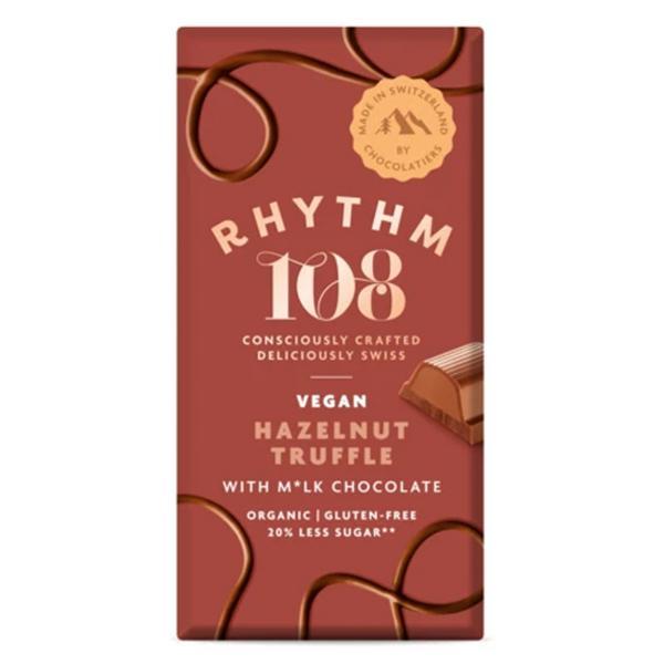 Milk & Hazelnut Truffle Chocolate Tablet Gluten Free, Vegan, ORGANIC