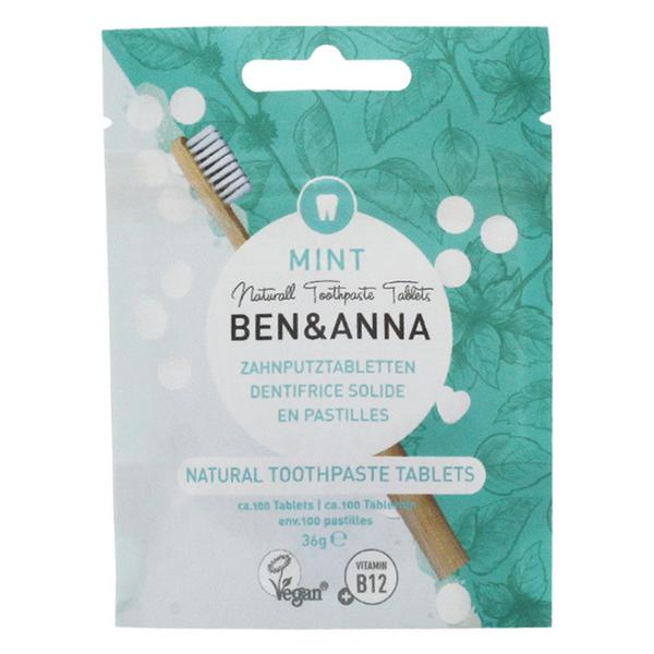 Natural Toothpaste Tablets Mint Fluoride Free Vegan