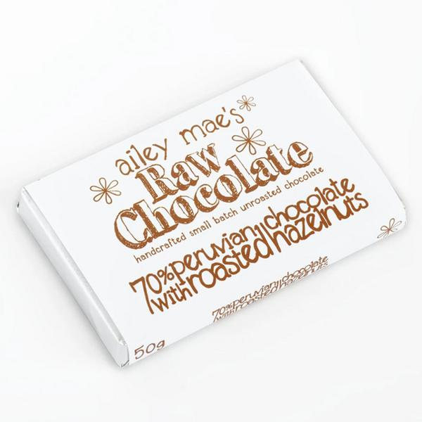 Raw Chocolate With Roasted Hazelnuts dairy free