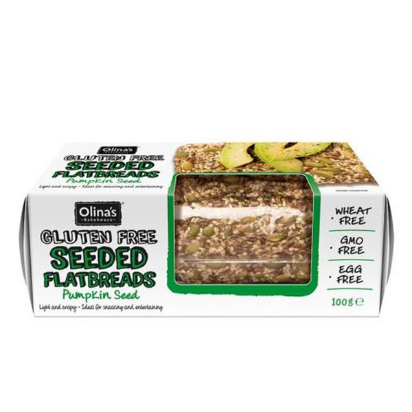 Seeded Flatbread Pumpkin Seed Gluten Free