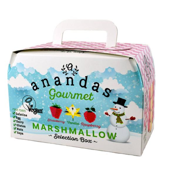 Marshmallows Gift Box Strawberry,Vanilla & Raspberry Gluten Free, Vegan