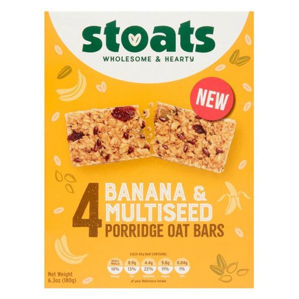 Banana & Multiseed Porridge Oats Bars