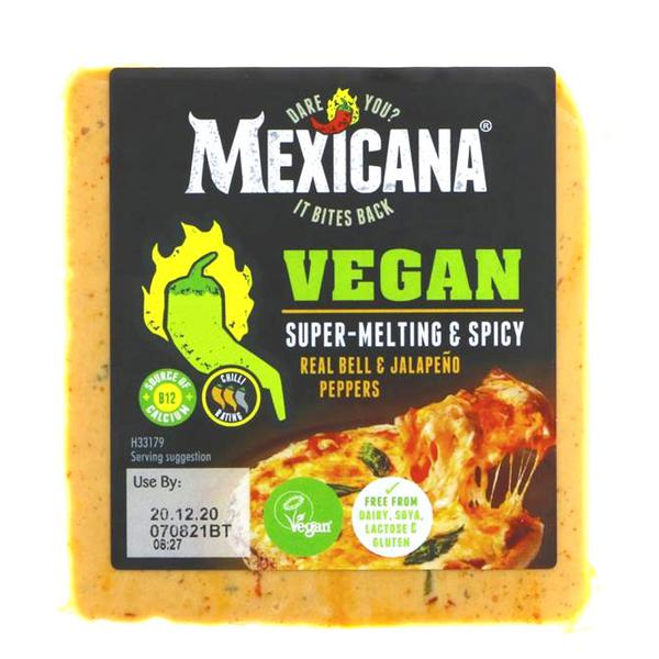 Mexican Cheddar Style Cheese Spicy Gluten Free, Vegan