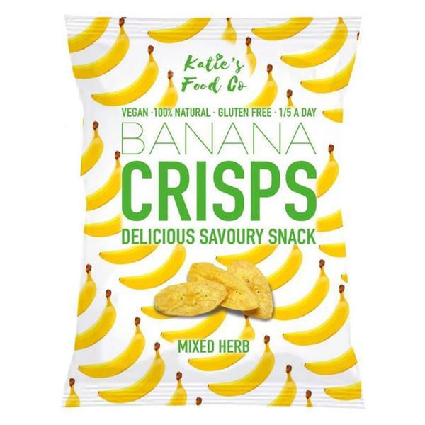Mixed Herb Savoury Banana Crisps Gluten Free, Vegan