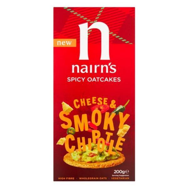 Cheesy & Smokey Chipotle Oatcakes