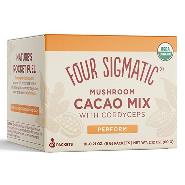 Mushroom Hot Cacao With Cordyceps Vegan, ORGANIC
