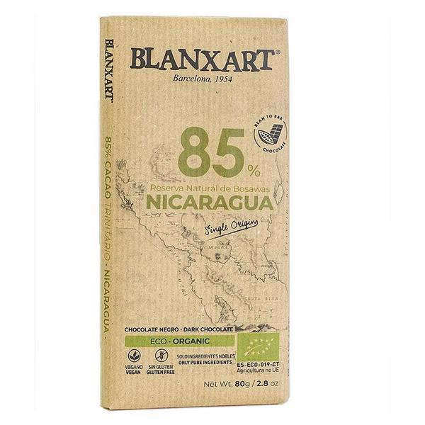 Nicaragua 85% Dark Chocolate Gluten Free, Vegan, ORGANIC