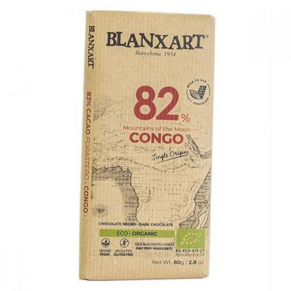 Congo 82% Dark Chocolate Gluten Free, Vegan, ORGANIC