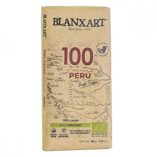 Peru 100% Dark Chocolate Gluten Free, Vegan, ORGANIC