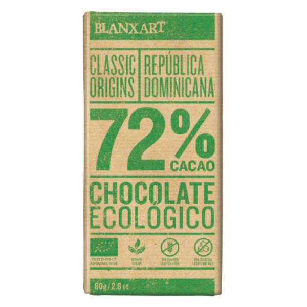 Dominican Republic 72% Dark Chocolate Gluten Free, Vegan, ORGANIC