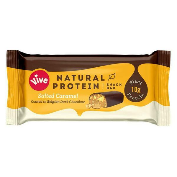 Protein Bar Salted Caramel Coated in Dark Chocolate Gluten Free, Vegan