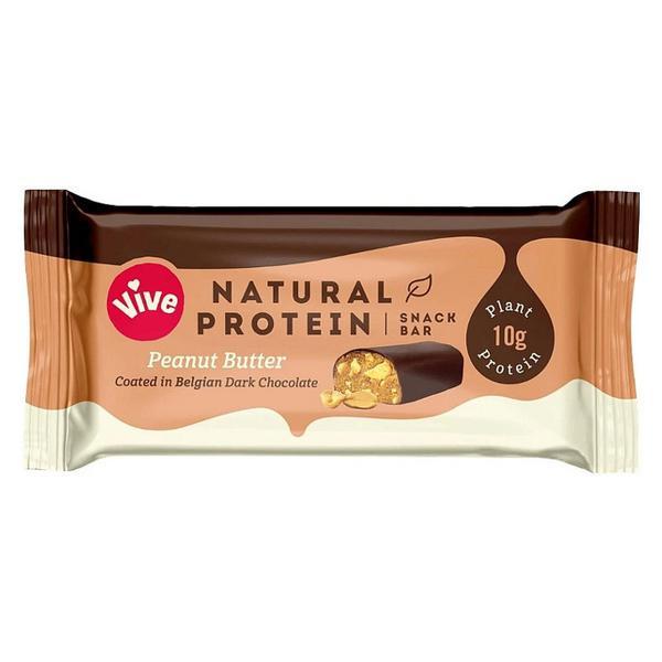 Peanut Butter Snackbar Coated in Dark Chocolate Gluten Free, Vegan