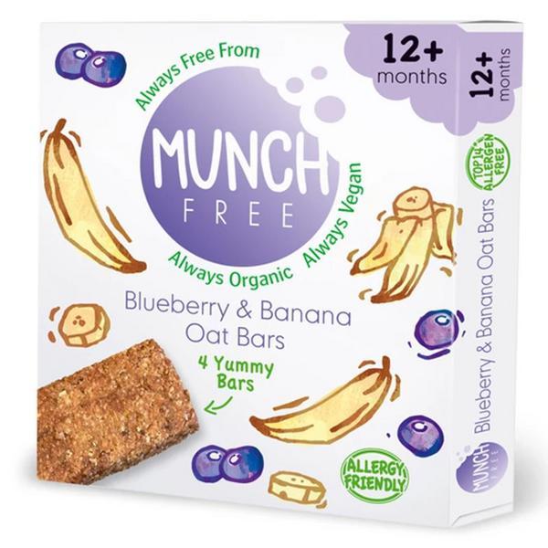 Oat Blueberry & Banana Snackbar Gluten Free, Vegan, ORGANIC