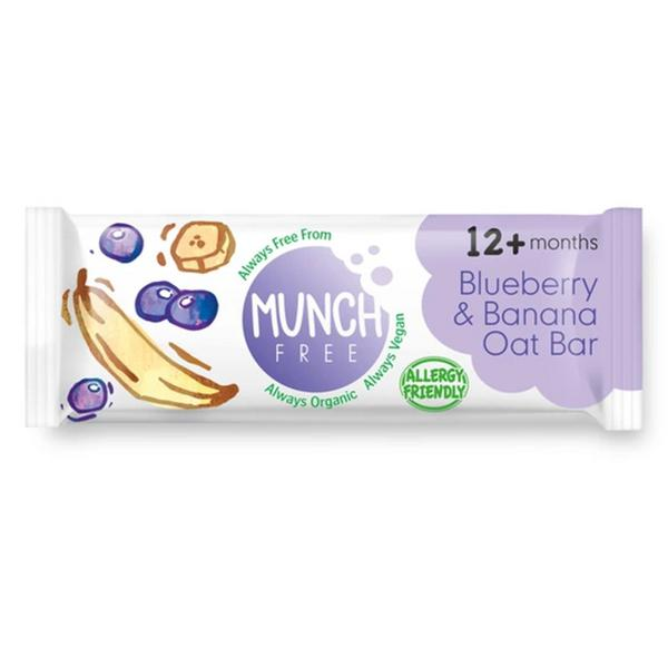 Oat Blueberry & Banana Snackbar Gluten Free, Vegan, ORGANIC image 2