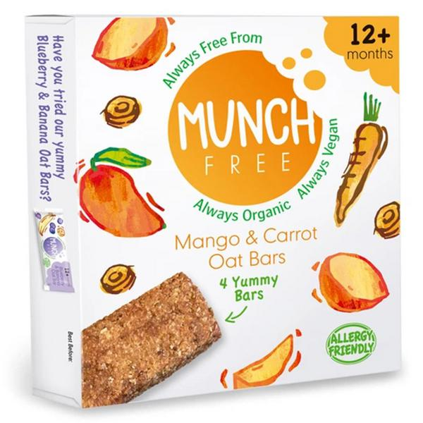 Mango & Carrot Oat Snackbar Gluten Free, Vegan, ORGANIC