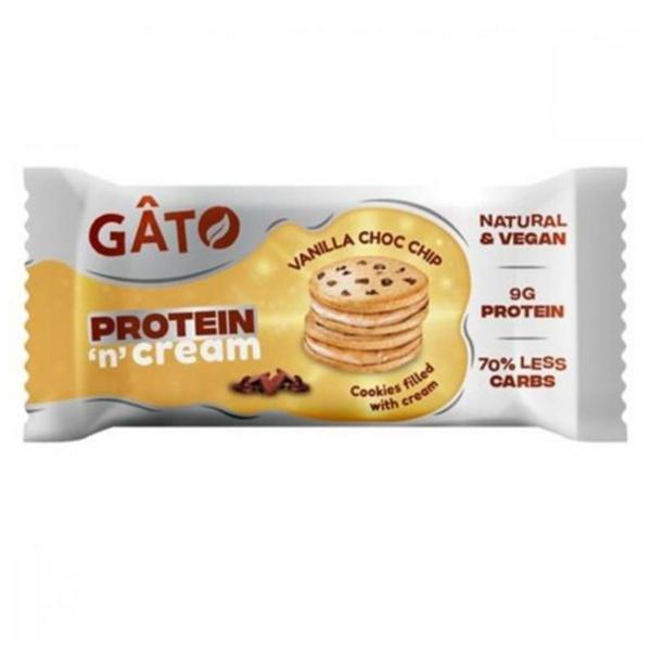 Protein 'n' Cream Vanilla Choc Chip Cookies Vegan