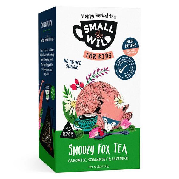 Snoozy Fox Chamomile,Spearmint & Lavender Tea no added sugar, Vegan