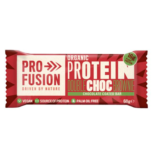 Chocolate Coated Double Choc Brownie Protein Bar Vegan, ORGANIC