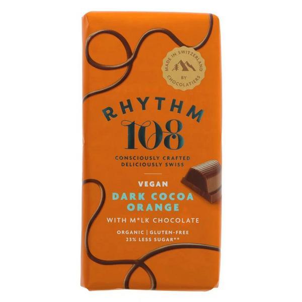 Dark Cocoa Orange With Milk Chocolate Chocolate Gluten Free, Vegan, ORGANIC