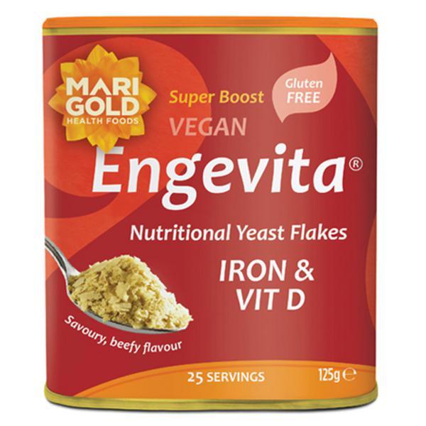 Engevita Iron & Vitamin D Yeast Flakes Gluten Free, Vegan