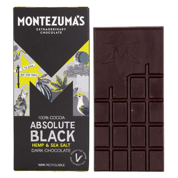 Absolute Black 100% Cocoa With Hemp & Sea Salt Chocolate Vegan