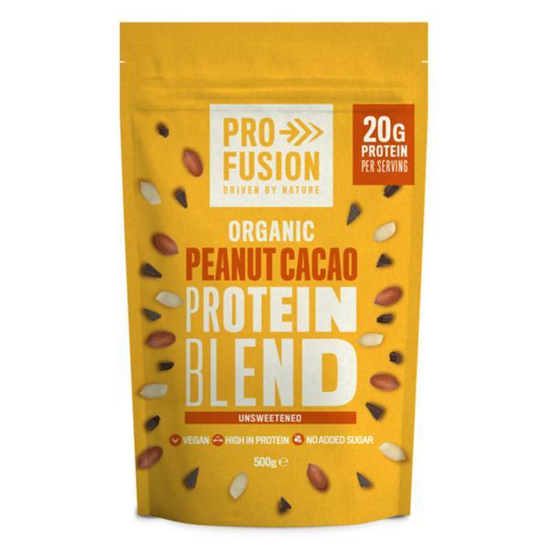 Unsweetened Peanut & Cacao Protein Blend Vegan, ORGANIC