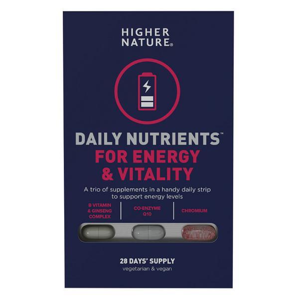 Daily Nutrients Multi Vitamins For Energy & Vitality Vegan