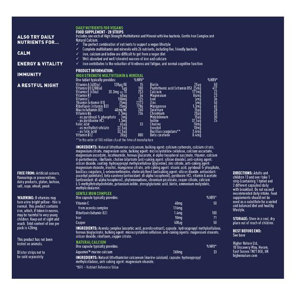 Daily Nutrients Multi Vitamins For Vegans Vegan image 2