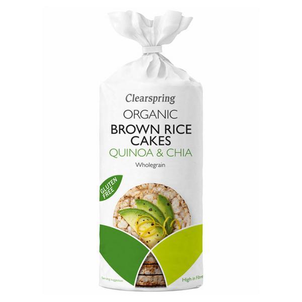 Brown Rice Cakes Quinoa & Chia Gluten Free, Vegan, ORGANIC