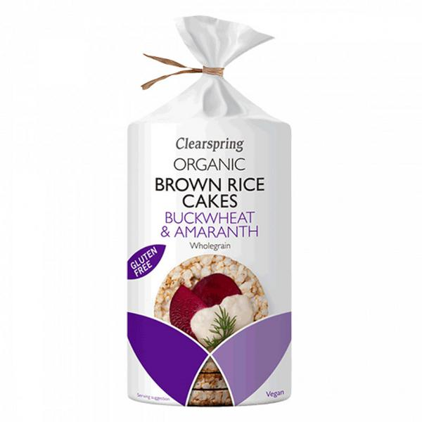 Brown Rice Cakes Buckwheat & Amaranth Gluten Free, Vegan, ORGANIC