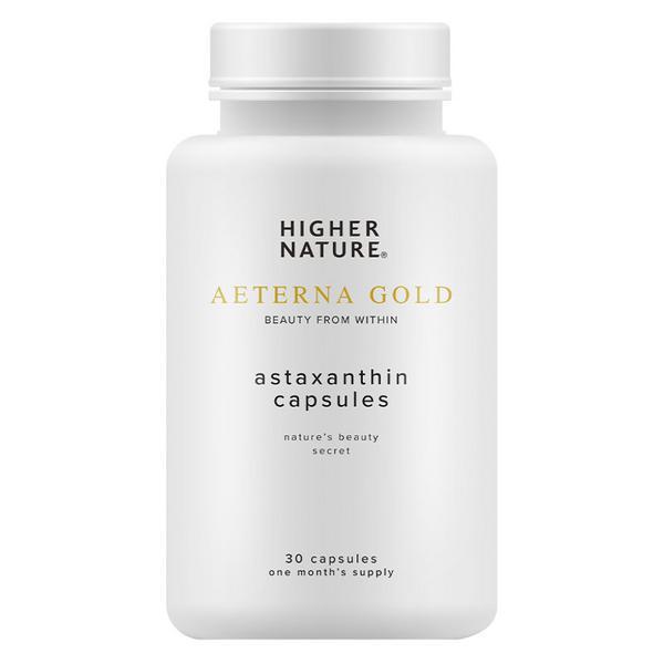 Aeterna Gold Astaxanthin Supplement salt free, sugar free, Vegan