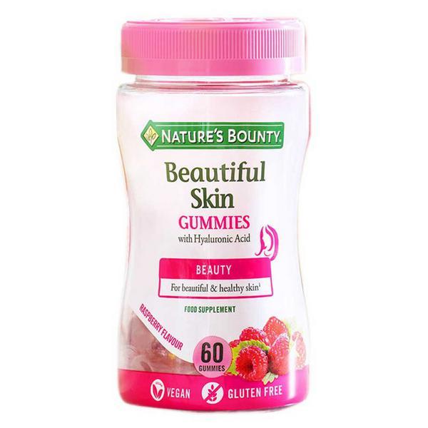 Beautiful Skin with Hyaluronic Acid Gummies Gluten Free, Vegan