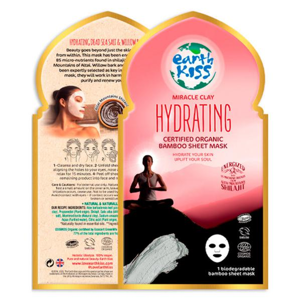 Miracle Clay Hydrating Bamboo Sheet Face Mask Vegan, ORGANIC