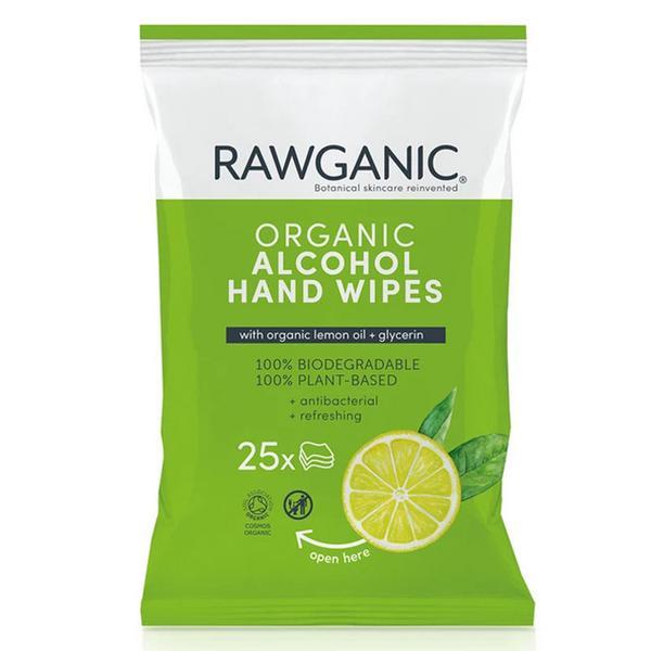 Organic Alcohol Hand Wipes Vegan