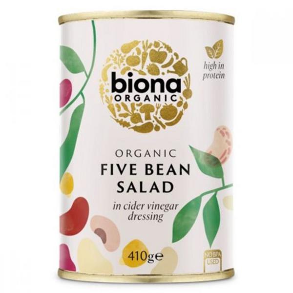 Five Bean Salad in Vinaigrette Dressing Salad Vegan, ORGANIC