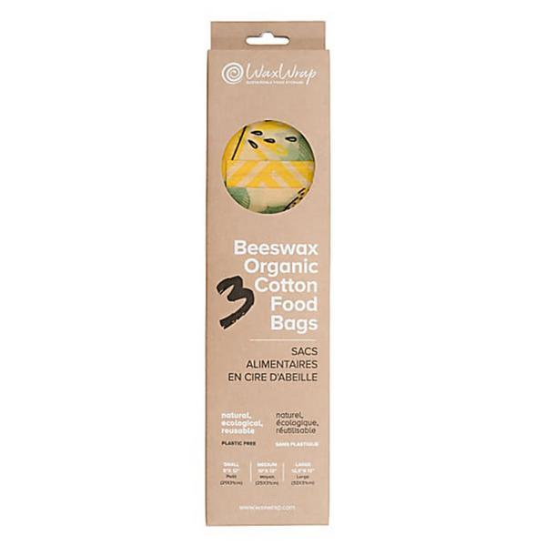 Beeswax Cotton Food Bags ORGANIC