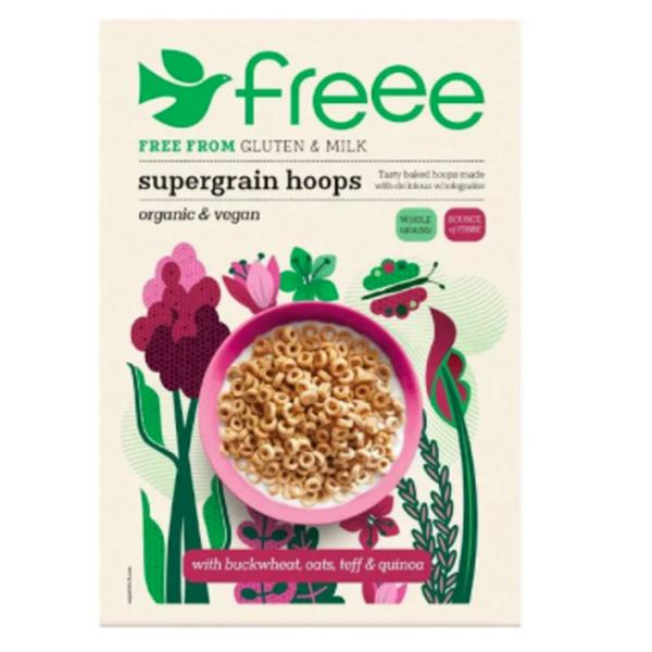 supergrain Hoops dairy free, egg free, Gluten Free, Vegan, ORGANIC
