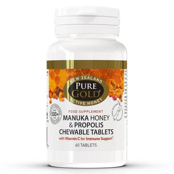Manuka Honey & Propolis Chewable Tablets