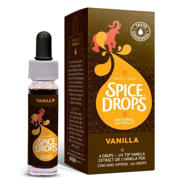 Spice Drops Vanilla Extract Gluten Free, GMO free, sugar free, ORGANIC