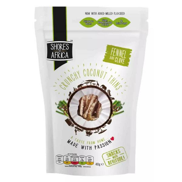 Fennel & Clove Flavour Coconut Thins dairy free, egg free, Gluten Free, oil free, Vegan, wheat free