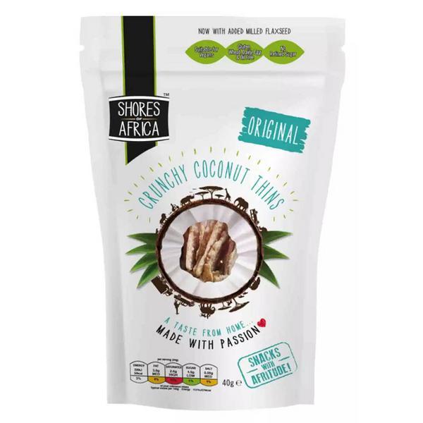Original Flavour Coconut Thins dairy free, egg free, Gluten Free, oil free, Vegan, wheat free