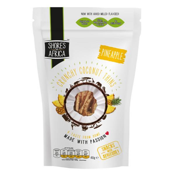 Pineapple Flavour Coconut Thins dairy free, egg free, Gluten Free, oil free, Vegan, wheat free