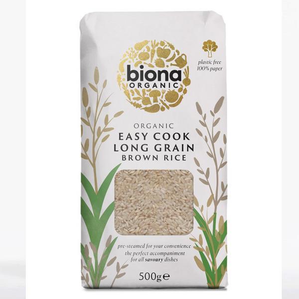 Long Grain Easy Cook Brown Rice Vegan, ORGANIC